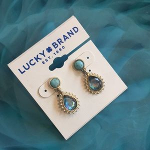 Lucky Brand ☘️ Drop Earrings Semi Precious Accents